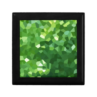 Green Polygon Shape Stained Glass Mosaic Abstract Gift Box
