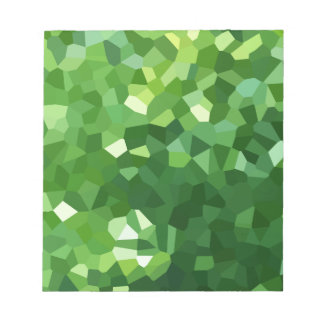 Green Polygon Shape Stained Glass Mosaic Abstract Notepad