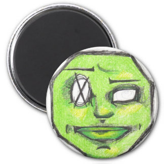 Green POO HEAD magnet