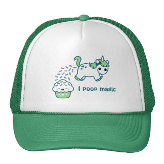 Green Pooping Unicorn Cap