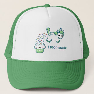 Green Pooping Unicorn Trucker Hat