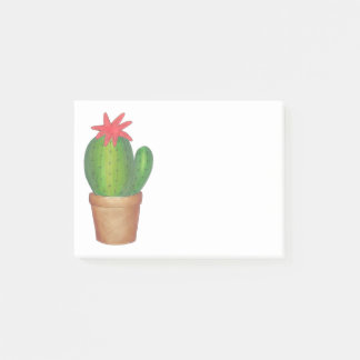 Green Potted Plant Prickly Cactus Flower Garden Post-it Notes