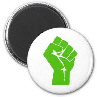 Green power 6 cm round magnet