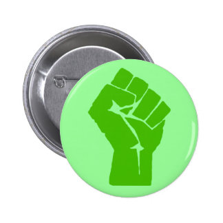 Green power pinback button