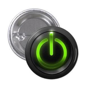 Green Power Button Pins