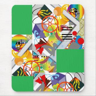 green, power, green, power, green, power mouse pad