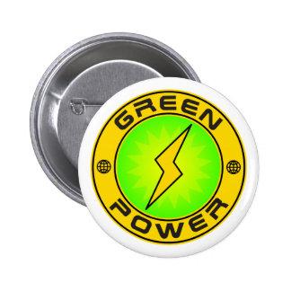 Green Power III Pinback Button