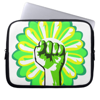 Green Power Laptop Sleeves