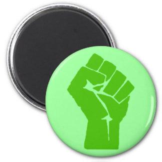 Green power fridge magnet