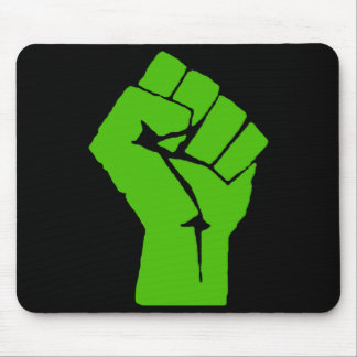Green power mouse pad