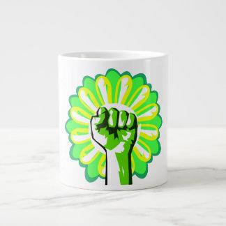 Green Power 20 Oz Large Ceramic Coffee Mug