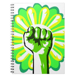 Green Power Spiral Notebook