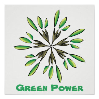 Green power poster