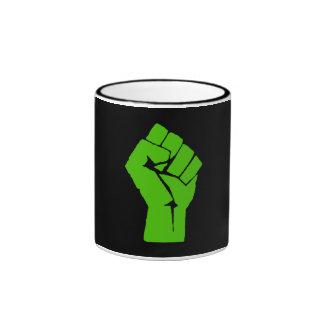 Green power ringer mug
