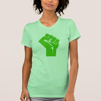 Green power women's tee shirt