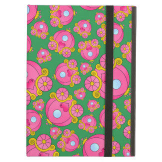 Green princess carriage pattern case for iPad air