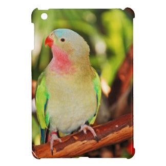 Green princess parakeet print iPad mini covers