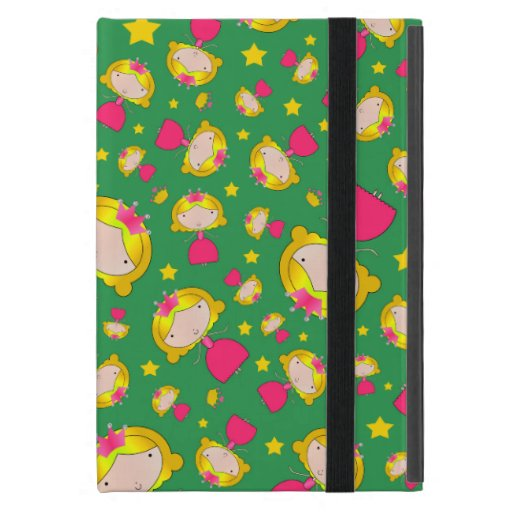 Green princesses and stars covers for iPad mini
