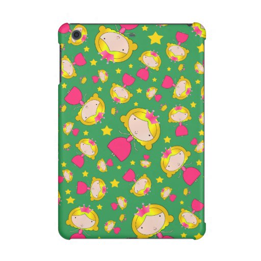 Green princesses and stars iPad mini covers