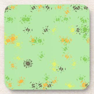 Green print coaster
