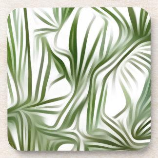 Green prints - green Print green plant Coasters