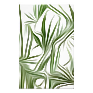 Green prints - green Print green plant Stationery