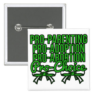 Green Pro Choice 15 Cm Square Badge