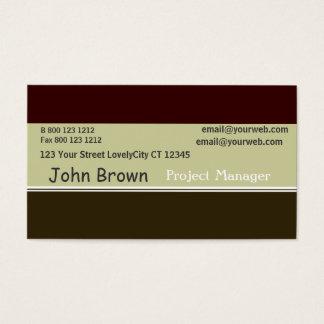 Green Professional Tri Color Burnt Sage Business Card