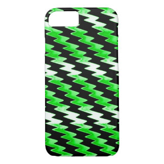 Green Psychedelic Lightning Pattern iPhone 7 Case