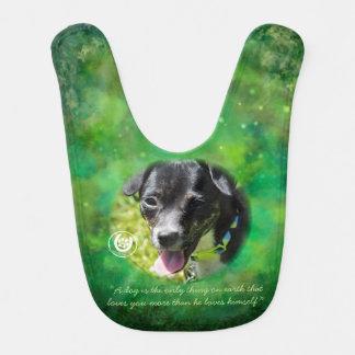 Green Puppy Hoofbeats and Pawprints Bib