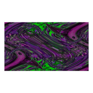 green purple chaos poster
