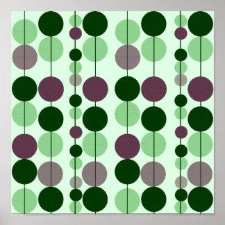 Green & Purple Circle Design Canvas Print