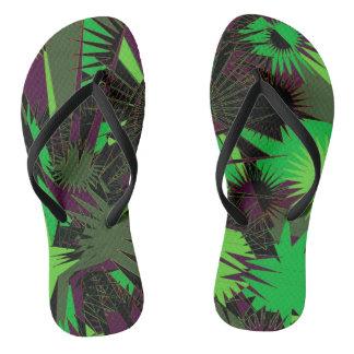 Green/Purple Custom Slim Straps / Flip Flops