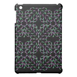 Green Purple Flower 3D Ribbons iPad Speck Case iPad Mini Covers