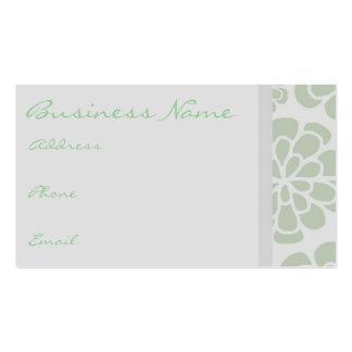 Green & Purple Flower Business Card