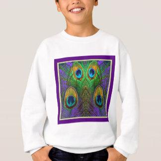 Green-Purple-Gold Peacock Feathers gifts Sweatshirt