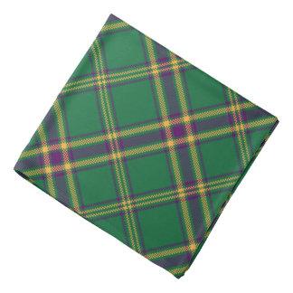 Green/Purple/Gold Tartan Plaid Bandana