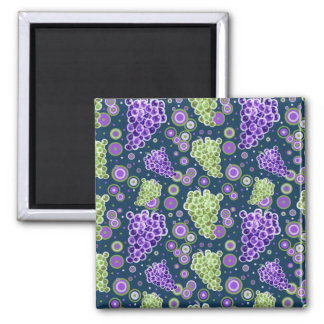 Green Purple Grapes Pattern Magnet