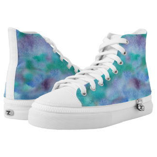 Green Purple High Top Shoes