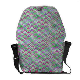 Green Purple Mermaid Pastel Pattern Commuter Bag