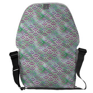 Green Purple Mermaid Pastel Pattern Courier Bag