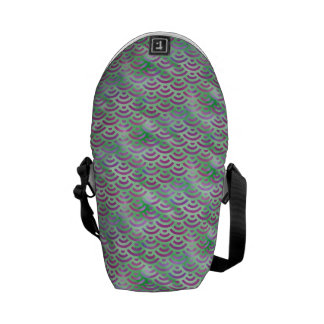 Green Purple Mermaid Pastel Pattern Messenger Bag