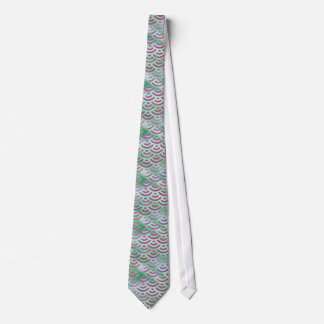 Green Purple Mermaid Pastel Pattern Tie