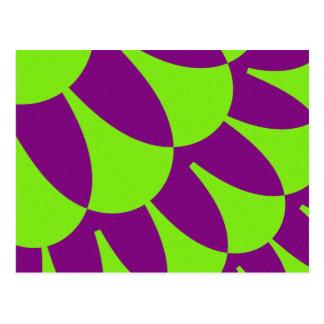 Green Purple Scales Postcards
