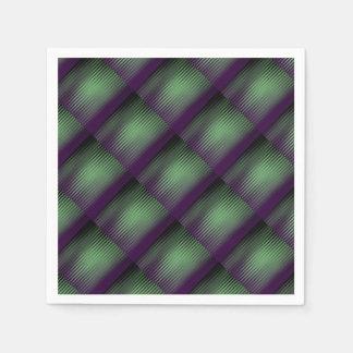 Green Purple Tiled Paper Napkin