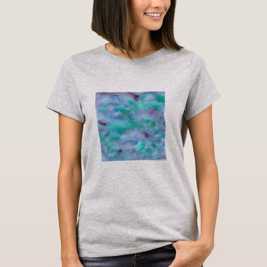 Green Purple Watercolor Women's Basic T-Shirt