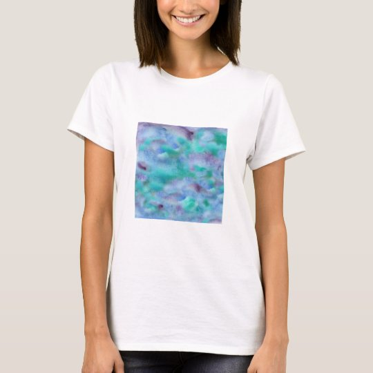 Green Purple Watercolor Women's Basic T-Shirt