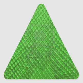 GREEN PYTHON SNAKE SKIN TEXTURE TRIANGLE STICKER
