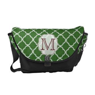 Green Quarterfoil Latti Monogram Bag Tote Purse Messenger Bag