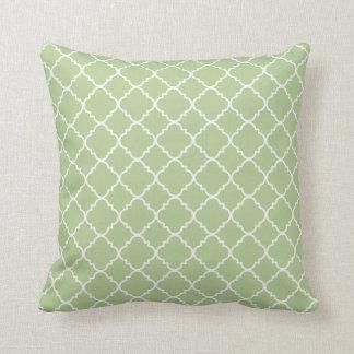 Green Quatrefoil Clover Cushion